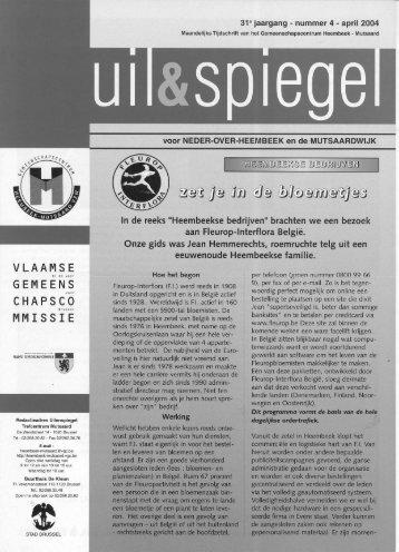 VLAAMSE GEMEENS CHAPSCO MMISSIE - Heembeek-Mutsaard ...
