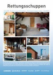Download PDF Infoblatt Rettungsschuppen Laboe - Halle 400