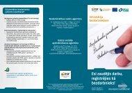 Informācija bezdarbniekiem - Nodarbinātības Valsts Aģentūra