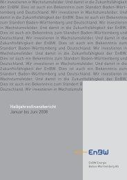 Enbw Halbjahresfinanzbericht 2008