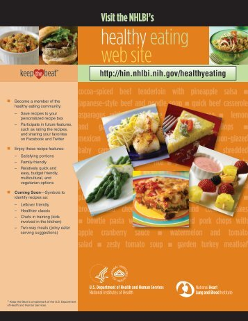 Keep the Beat Healthy Eating Web Site Flyer - NHLBI Healthy ...