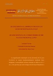 de lege irnitana - revista internacional de derecho romano-index