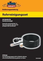 Wir danken Ihnen, daß Sie sich für das King - cleanerworld GmbH