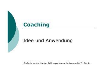 Coaching - TU Berlin