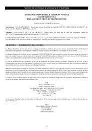 NOTICE DU CONTRAT D'ASSURANCE N°8076