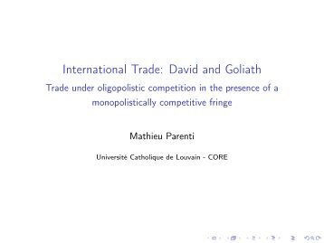 transportation costs and international trade in