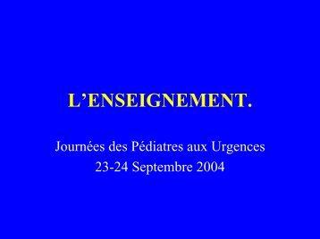 L'ENSEIGNEMENT. - gfrup