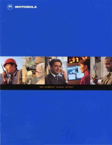 1995 SUMMARY ANNUAL REPORT - Motorola Solutions