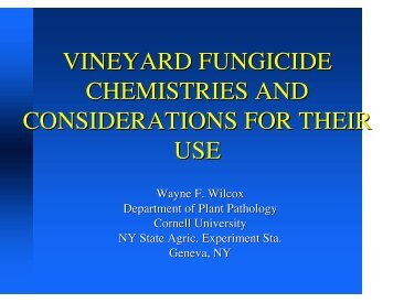 vineyard fungicide chemistries and considerations for their use