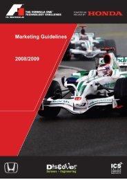 f1 in schools challenge marketing guidelines