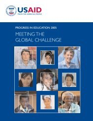 USAID Progress in Education 2005 - Meeting the Global Challenge