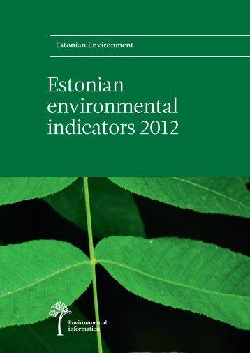 Estonian environmental indicators 2012