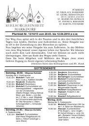Pfarrblatt Nr. 13/14/15 vom 20.03. bis 12.04.2010 - Seelsorgeeinheit ...