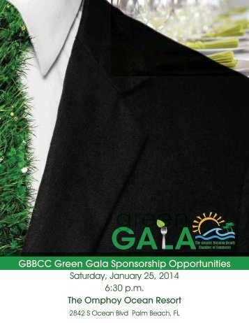 GBBCC Green Gala Sponsorship Opportunities - The Greater ...