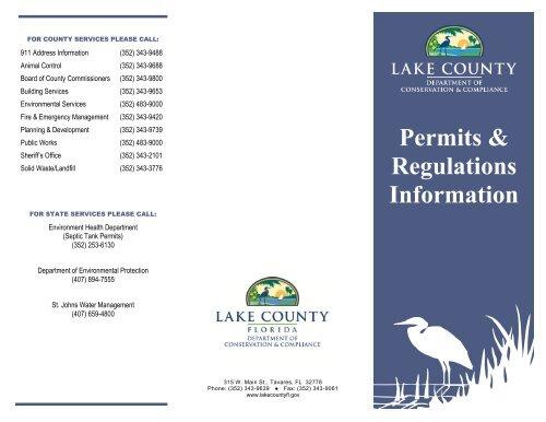 Permit Regulation Information - Lake County