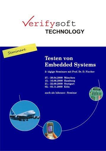 Testen von Embedded Systems - Verifysoft Technology GmbH