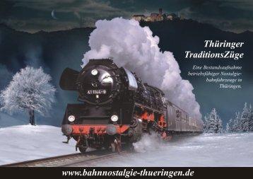 "Broschüre ""Thüringer TraditionsZüge"""