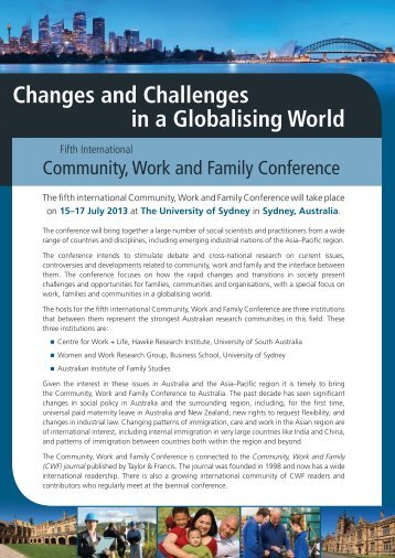 Changes and Challenges in a Globalising World