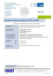 European Technical Approval ETA-11/0352
