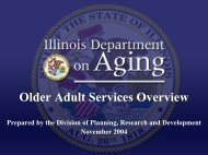 Older Adult Services Overview - State of Illinois