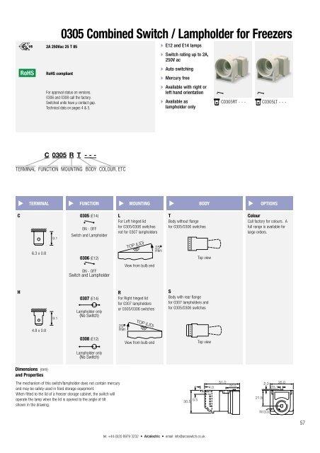 Switch datasheet pdf