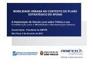 Mobilidade Urbana no contexto do Plano Estratégico ... - SEESP