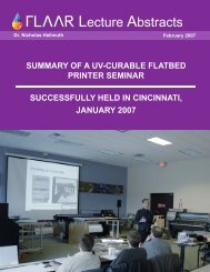 SUmmARy OF A UV-CURABLE FLATBED PRINTER SEmINAR ...