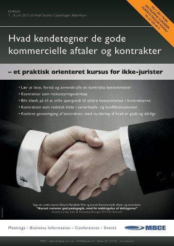 Hvad kendetegner de gode kommercielle aftaler og kontrakter - MBCE