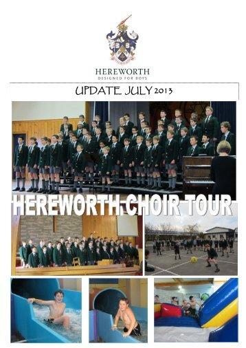UPDATE JULY 2013 - Hereworth School