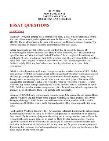 qualities of essay test