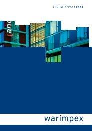 ANNUAL REPORT 2005 - Warimpex