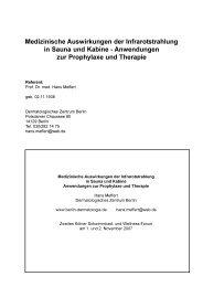 Medizinische Auswirkungen der Infrarotstrahlung in Sauna und ...