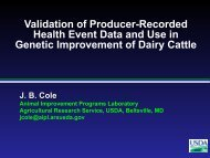 Genetic Improvement of Dairy Cattle Health - Animal Improvement ...
