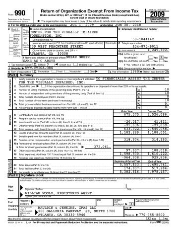Return of Organization Exempt From Income Tax - Center for the ...