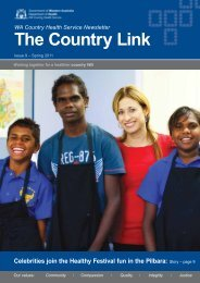 Spring 2011 - WA Country Health Service