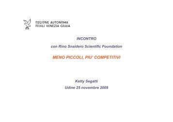 Intervento di Ketty Segatti - Confindustria Udine