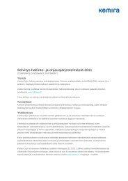 Selvitys hallinto- ja ohjausjärjestelmästä 2011 (.pdf) - Kemira