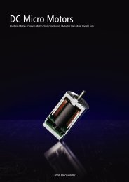 Canon Precision DC motor catalog - Dynetics, distributor of small ...