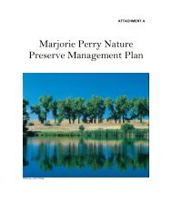 Marjorie Perry Nature Preserve Management Plan - Greenwood ...