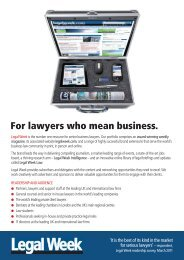 Download a brand media pack - Legalweek