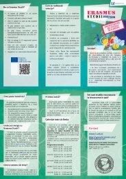 Mobilităţi Erasmus pentru studii 2013-2014 - Departamentul de ...