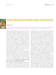 vom musikalischen der singvögel - Verlag Freies Geistesleben