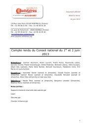 Compte rendu du Conseil national du 1er et 2 juin 2013 - Peuples ...