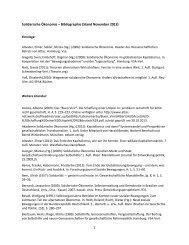 Solidarische Ökonomie – Bibliographie - Forum