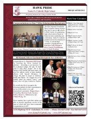 HAWK PRIDE - Santa Fe Catholic High School