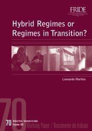 Hybrid regimes or regimes in transition? - Serwis Informacyjny WSJO