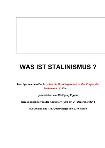 was ist stalinismus - Communist International (Stalinist-Hoxhaists)