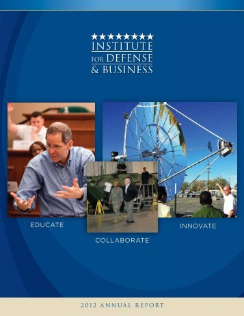 IDB 2012 Annual Report - Institute for Defense & Business