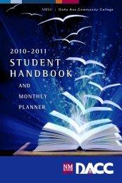 DACC Student Handbook - Dona Ana Community College - New ...