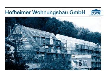 Broschüre - Hofheimer Wohnungsbau GmbH